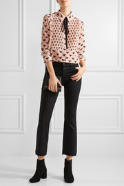 Markus Lupfer Flying Bumble printed silk crepe de chine blouse