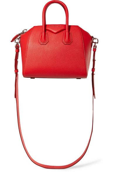 6bb05fca9a Givenchy | Antigona mini textured-leather shoulder bag | NET-A ...
