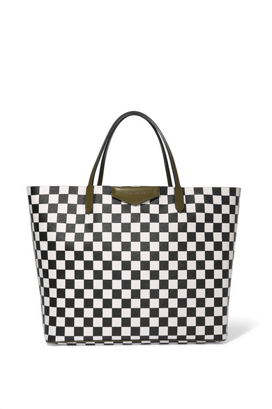 8301f7d6e3 Givenchy | Antigona Shopping large checked textured-leather tote ...