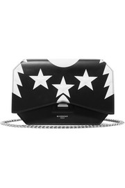 Bow Cut printed leather shoulder bag