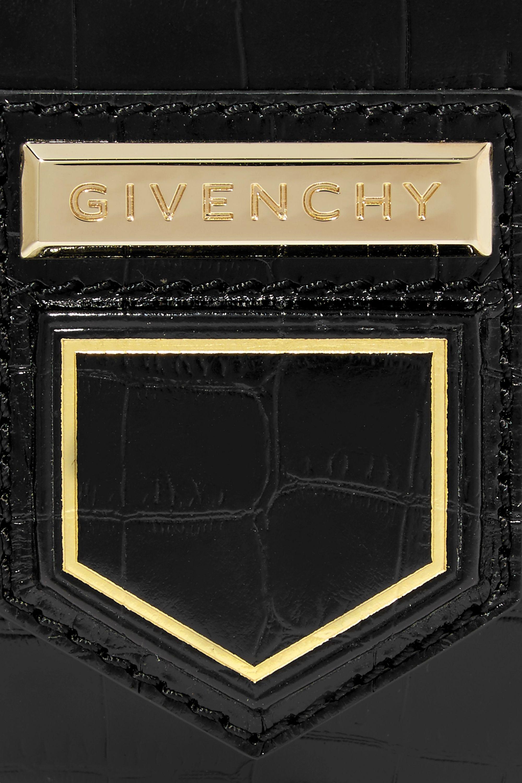 Givenchy Nobile mini croc-effect glossed-leather shoulder bag