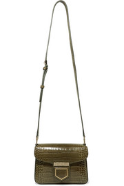 Givenchy Nobile mini croc-effect glossed-leather shoulder bag