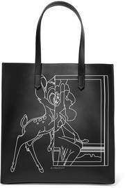Stargate printed leather tote