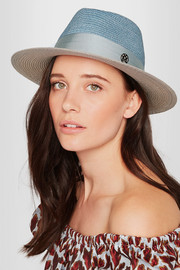 Thadee grosgrain-trimmed two-tone straw hat
