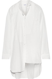 Loewe Oversized asymmetric cotton-gauze shirt