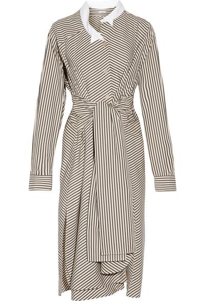 Striped cotton poplin shirt dress Loewe 1631etsf