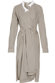 Loewe Striped cotton-poplin shirt dress