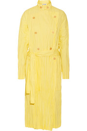 Loewe Crinkled cotton-blend poplin trench coat