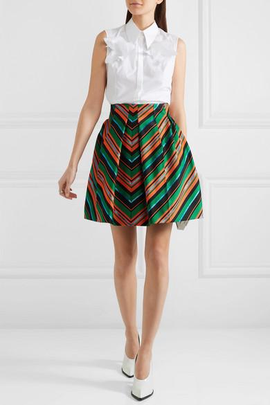 e61ef14f35 DELPOZO   Pleated metallic jacquard mini skirt   NET-A-PORTER.COM