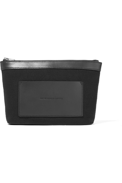 alexander wang female alexander wang leathertrimmed canvas pouch black