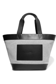 Alexander Wang Leather-trimmed woven canvas tote