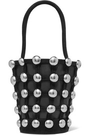 Alexander Wang Roxy mini studded suede-trimmed leather tote