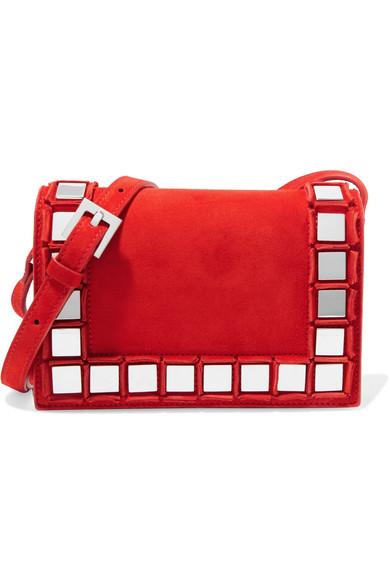 tomasini paris female tomasini anja embellished suede shoulder bag red