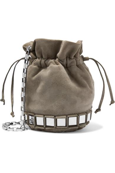 Lucile Embellished Suede Bucket Bag Tomasini IM56Mn