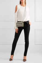Ross embellished suede shoulder bag