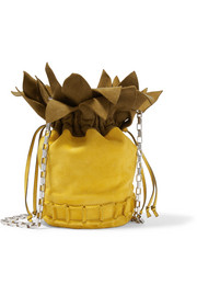 Ananas suede shoulder bag