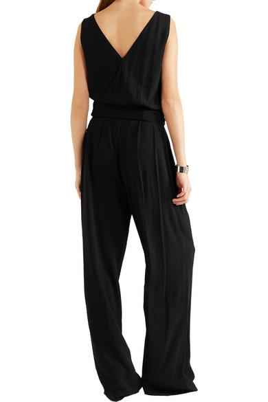 maison margiela wrap effect crepe jumpsuit net a porter com. Black Bedroom Furniture Sets. Home Design Ideas