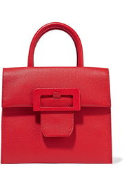 Maison Margiela Buckle textured-leather tote