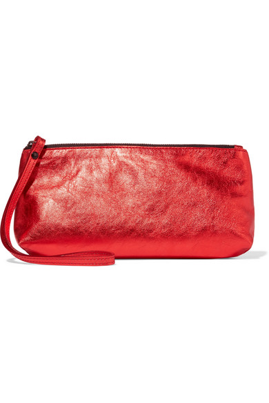 Ann Demeulemeester - Metallic Textured-leather Clutch - One size