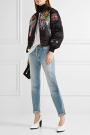Marc Jacobs Embellished painted shell bomber jacket