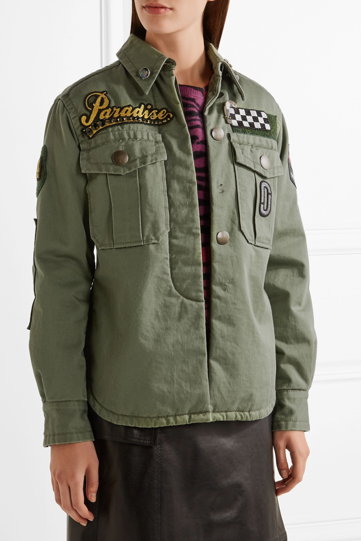 Runway Marc Jacobs Verzierte Jacke aus Baumwoll-Canvas