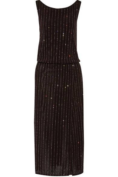 marc jacobs female marc jacobs wrapeffect glitterembellished stretchknit dress black
