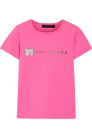 Marc Jacobs Embellished cotton-jersey T-shirt