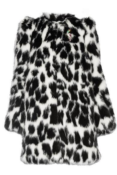 Marc Jacobs - Embellished Leopard-print Faux Fur Coat - Leopard print