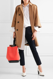 Pod color-block leather tote
