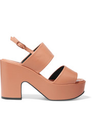 Emple leather platform sandals