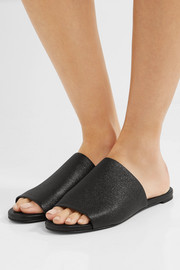 Gigy textured-leather slides