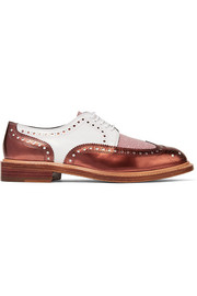 Robert Clergerie Roeltm glittered and metallic leather brogues