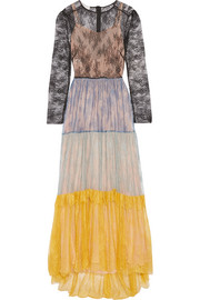 Philosophy di Lorenzo Serafini Color-block lace gown