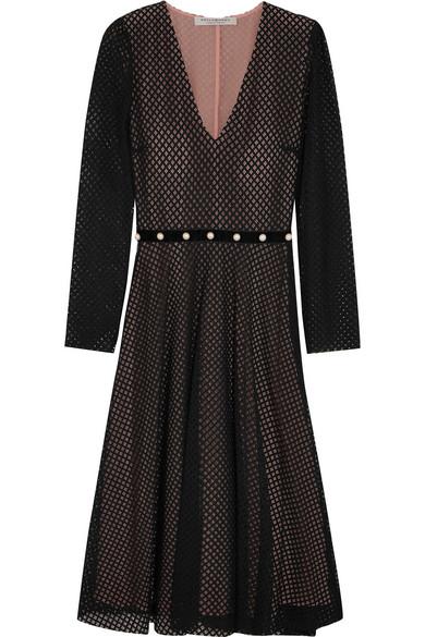 Philosophy di Lorenzo Serafini - Faux Pearl-embellished Cotton-blend Lace Dress - Black