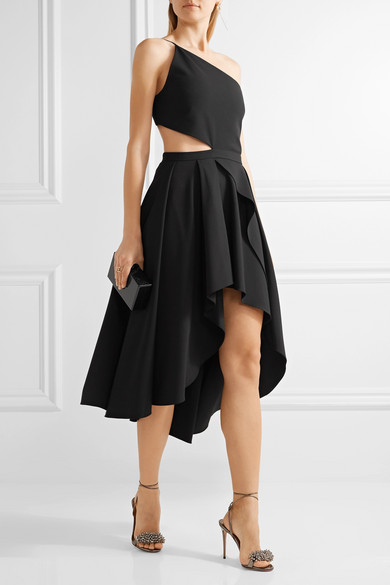 Michelle Mason Woman One-shoulder Cutout Stretch-cady Dress Black Size 2 Michelle Mason tJ6hmjhxCL