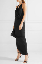 Rick Owens Draped wrap-effect stretch-jersey halterneck top
