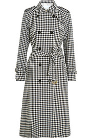 Sonia Rykiel Checked wool-crepe trench coat