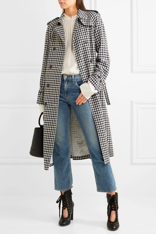 Sonia Rykiel Checked wool-crepe trench coat