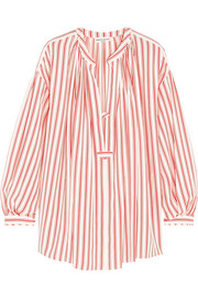 Sonia Rykiel Striped silk crepe de chine blouse
