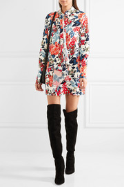Sonia Rykiel Floral-print crepe mini dress