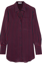 Sonia Rykiel Striped silk crepe de chine shirt