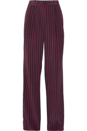 Sonia Rykiel Pleated striped silk crepe de chine wide-leg pants
