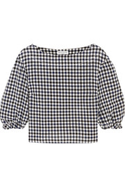 Sonia Rykiel Checked wool-crepe top