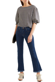 Sonia Rykiel Cropped frayed mid-rise flared jeans