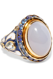 Percossi Papi Gold-tone multi-stone ring