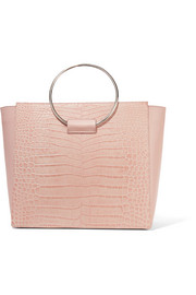 Ring croc-effect leather tote