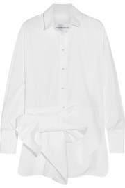 Bow-embellished cotton shirt