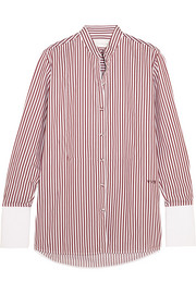 Victoria, Victoria Beckham Striped cotton-twill shirt
