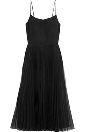 Victoria, Victoria Beckham Silk-satin and pleated tulle dress
