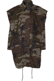 Hooded camouflage-print cotton-canvas jacket